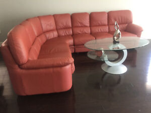 Beautiful Leather Sectional Sofa for SALE