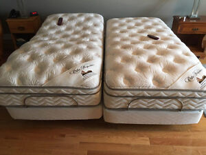 2 Single-sized electric beds with Ortho perfection matresses