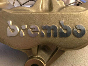 NEW Ducati Brembo Front Brake Calipers 4 pad 65mm996rs oem Gold