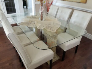 Beautiful Glass Dining room set