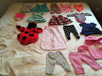 Baby girl misc 3-6 month clothes