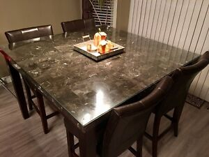Modern 7 Piece Dining set - Real Marble top  Strathcona County Edmonton Area image 6