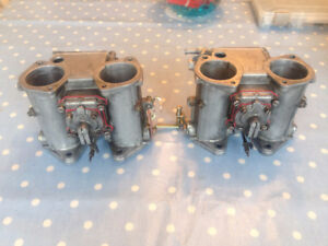 Pair - Dellorto DHLA40 Sidedraft Carbs PLUS BOX of Jets & Spares