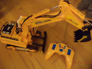 Excavator with remote control