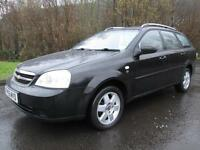 05/05 CHEVROLET LACETTI 1.6 SX ESTATE IN BLACK WITH ONLY 75,000 MILES