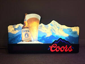 "1991 Coors Lighted Sign (34""x19"" or 86.5mmx48.5mm)"