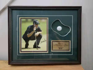 Tableau de collection golf signé Mike Weir