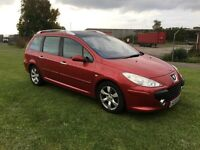 55 REG PEUGEOT 307 SW 2.0 HDi SE 5DR-GREAT MPG-LONG MOT-LOOKS AND DRIVES WELL
