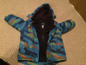 Boys Size 4 Winter Jacket (with inner lining)
