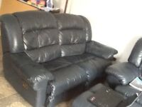 Leather Recliner sofa Set 2 seater x 2 sofas going cheap grab a bargain