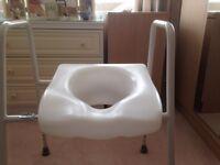 Toilet riser seat
