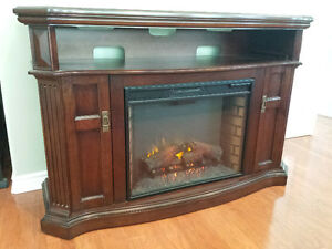Electric Fireplace with Media Console