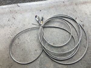 "SS RIGGING 35 ft wire rope sling New 1/2"" 36,000 lb WLL $100"