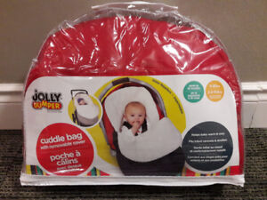 Jolly Jumper Cuddle Bag, for infant car seats (red, UNUSED!)