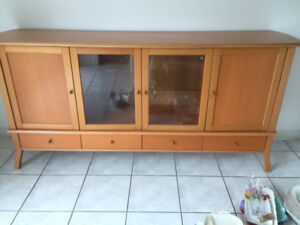 ikea sideboard With a glass-door cabinet