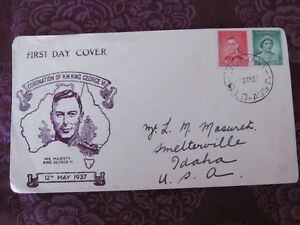 King George VI First Day Cover Stamp (1937)
