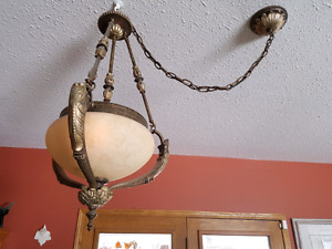 3 ceiling lights rustic in nice working condition