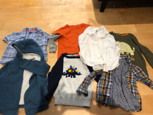 Lot of Boys 2T & 3T sweaters, shirts, long-sleeved tops, hoodie