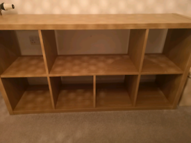 Ikea kallax shelving unit (4x2) oak