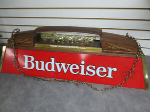 Budweiser Beer Bar Pool Table Ceiling Light / Billiards Lamp