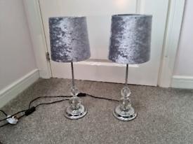 Bedside lamps (pair)