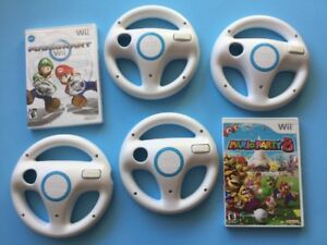 Divers items: Mario Kart - volants Wii - Mario party 8