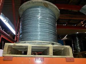 Steel cable 1/4'' câble d'acier Saint-Hyacinthe Québec image 1