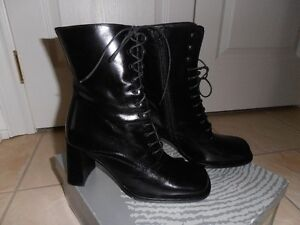 New boots from Italy - leather - black