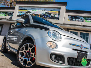 '12 Fiat 500 Sport+A/C+Roof+PowerPkg+AccidentFree!Only $54/Pmts!