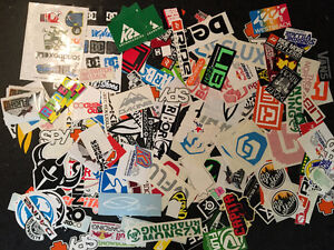 Huge Collection of Snowboarding/Skateboarding Stickers