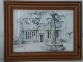 Framed Sketched Picture