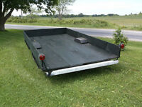 "12' X 6'4"" Utility trailer. Solid. All rebuilt. Good deal."