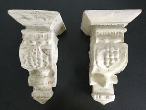 2 Supports muraux décoratifs style Shabby Chic