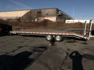 24' Galvanized Deck-over trailer, only a year old!