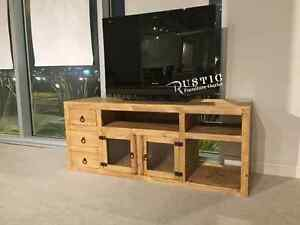 WAREHOUSE SALE!! RUSTIC PINE TV STAND