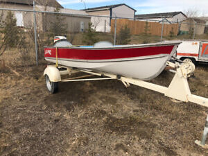 12' Lund fishing boat package