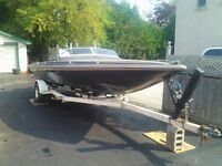 21ft speed boat with motor and trailer