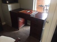 Rosewood Desk with back panel