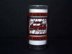 70's Coca-Cola Glass - Tiffany/Stained-glass Theme - McD's