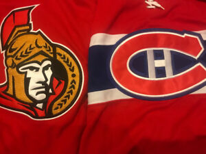 *** BRAND NEW - SENATORS, CANADIENS - HOCKEY JERSEYS - 70ea.