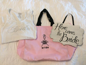Bride Tote, Tank and Sign