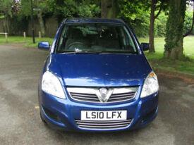 2010 Vauxhall Zafira 1.6 Exclusiv**PETROL 7 SEATER MPV**PSH**JUST SERVICED**