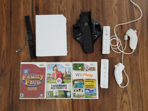 Wii with 2 controllers, 3 games