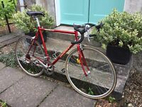 Stunning and rare giant aluminium road racing bike