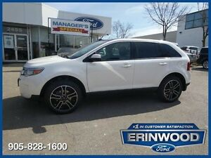 "2014 Ford Edge SEL6CYL/LTHR/PAN ROOF/REM START/20"" BLACK ALLOYS"