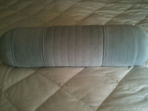 Large blue-grey bolster pillow