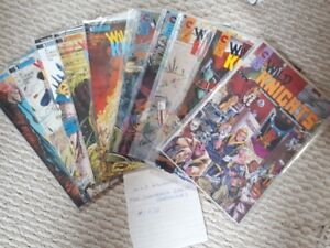 Wild Knights Shattered Earth Chronicles comic lot #1-10 1986
