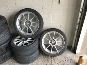 4 mags rims jantes 17po universelle 5x114.3 / 5x100