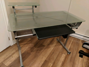 Glass and Metal Office Desk