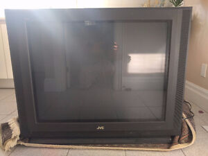 """JVC 36"""" TV with Matching Stand"""